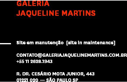 Informações de contato - Galeria Jaqueline Martins